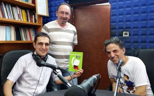 Етгар Керет, Георги Митов-Геми и Гриша Атанасов в студиото на Книги завинаги. Снимка: Манол Пейков